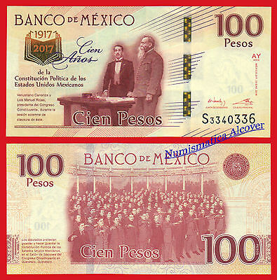 MEJICO MEXICO 100 Pesos 2016 (2017) Commemorative Pick NEW  SC  /  UNC