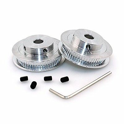 Pulleys BIQU GT2 Synchronous Wheel 60 Teeth 8mm Bore Aluminum Timing Pulley for