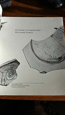 Unearthing New England's Past book 1986 unsold copy Ceramic Pottery Stoneware