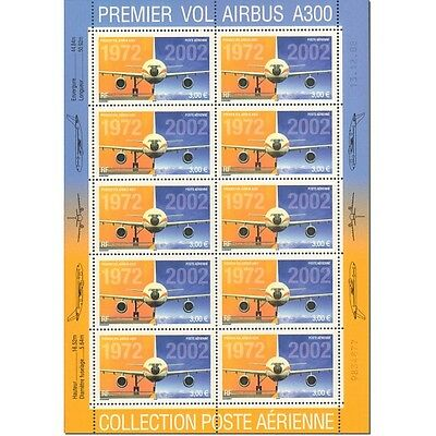 PA N°_65 AIRBUS A300 LUXE FEUILLE 10 timbres