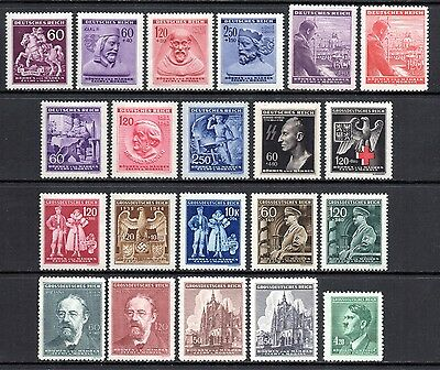 GERMANY WWII BOHEMIA & MORAVIA 1943-1944 Issues Complete MINT NH - 3 SCANS MNH