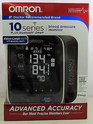 Omron 10 Series Blood Pressure Monitor Plus Bluetooth Smart EZ Wrap Gently Used