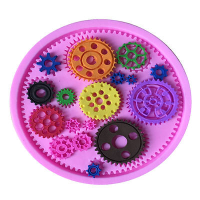Steampunk Mechanical Gears Cogs Silicone Cake Mould Fondant Sugarcraft Chocolate