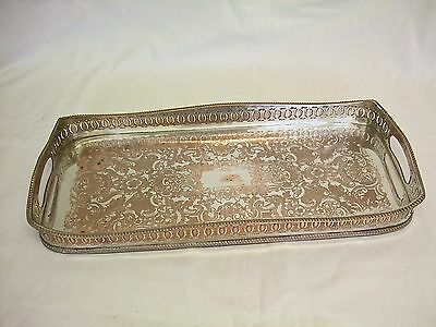 Nice Quality Heavy  Silver On Copper Gallery Tray