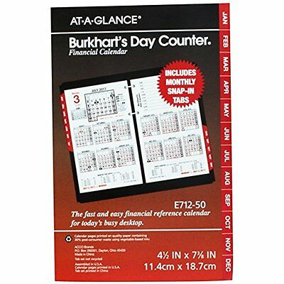 Desk Calendars AT-A-GLANCE Burkharts Day Counter Daily Desk Calendar Refill 4-12