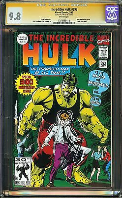 Incredible Hulk #393 CGC 9.8 NM/MT SIGNED STAN LEE 30th anniversary issue David