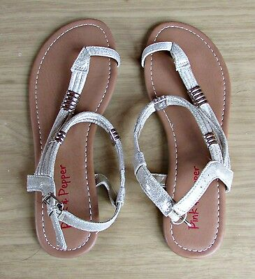 PINK & PEPPER  Womens Gold Sandals Thongs - Size 10 NEW!