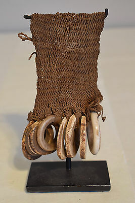 Papua New Guinea Conus Shell Large Woven Armband Lumi Tribe Currency Shell