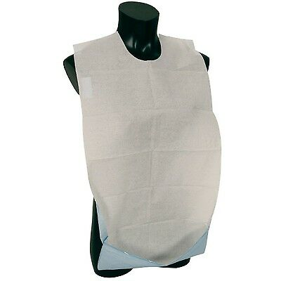 Abena Self Adhesive Disposable Adult Bib with Pocket - Pack of 100