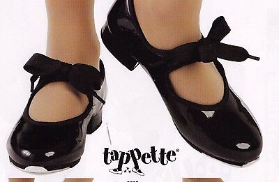New MainStreet tap shoe 3505 ladies szs 3 colors elastic inset ribbon tie