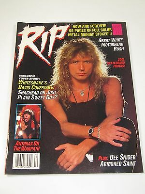 RIP Magazine-February 1988 White Snake, David Coverdale Anthrax-Rock Metal