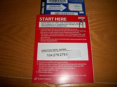 Straight Talk AT&T Micro/Standard Sim Card Bring Your Own Phone Activation Kit