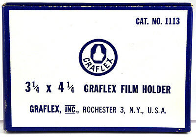 """Graflex Slotted Wood Film Holder for 3.25 x 4.25"""" - NEW OLD STOCK in BOX"""