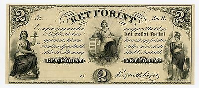1800's $2 Ket Forint - NEW YORK (Hungarian) Note