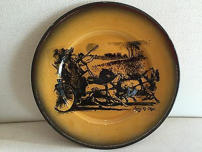 """Vintage Ridgway Scenes from Coaching Days Plate """"Racing the Mail"""""""
