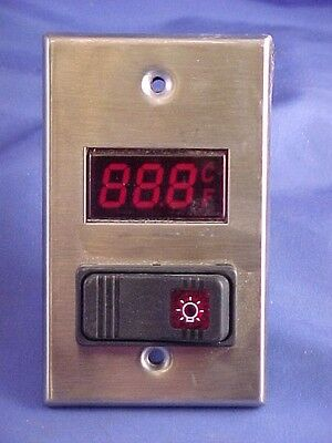 WEISS 24DT-L4F1 . DIGITAL THERMOMETER lighted  switch plate 120V 40-230deg F