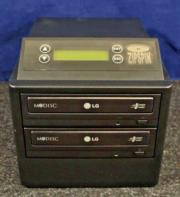 ZipSpin D121-L-S CD/DVD Duplicator, Burner Driver, 1 to 1, MINT IN BOX