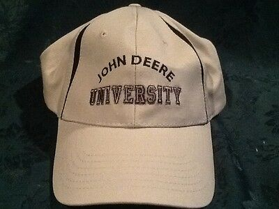 John Deere University Gray with black cap / hat