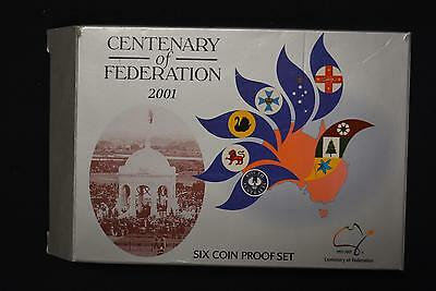 2001 Australia Centenary Of Federation 6 Coin Proof Set Ogp