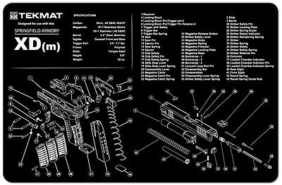 SPRINGFIELD XDM 45 XDM-45 Armorers Gun Cleaning Bench Mat ... on pa-63 schematic, buck knife schematic, p m schematic, xds schematic, springfield xd schematic, glock schematic, ak-47 schematic, springfield 9mm schematic,