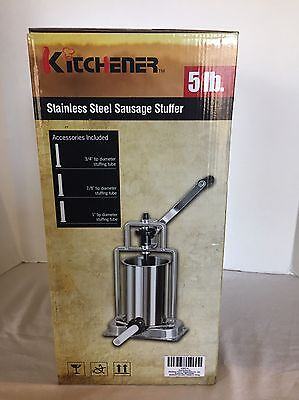 NEW - KITCHENER 5-lb Stainless Steel Sausage Stuffer - Best ...