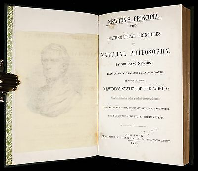 NEWTON PRINCIPIA In ENGLISH 1848 * 1ST AMERICAN EDITION * Math PHYSICS Astronomy