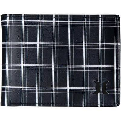 HURLEY New Mens Boys Surf Wallet Bi Fold Black Check