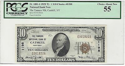 1929 National Bank Note Tanners NB Catskill NY PCGS 55 Type 1 Low Serial #