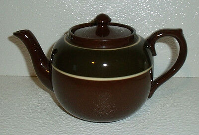 "Gibson's England Teapot Small 3.75"" Vtg Brown Tea Pot"
