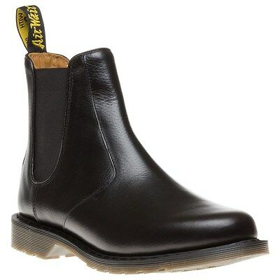 New Mens Dr. Martens Black Oscar Victor Leather Boots Chelsea Pull On
