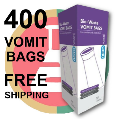 400 VOMIT BAGS FIRST AID EMESIS  Odour-Free TWIST & SEAL