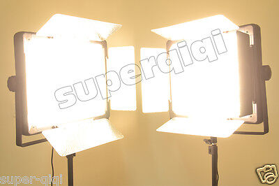 2014 Upgrade 2Pc 2000 LED Video Photography Studio Lighting Dimmable Color Light