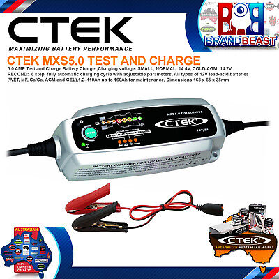 Ctek Mxs5.0 Test And Charge 12v 5amp Battery Charger