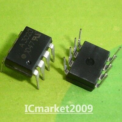 10 PCS HCPL-3020 DIP-8 HCPL3020 A3020 0.2A Output Current Gate Drive Optocoupler