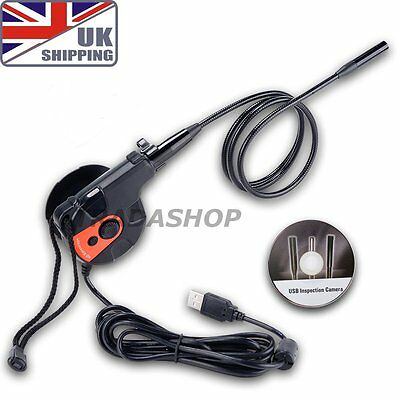 UK Ship USB HD Endoscope Inspection Camera Borescope 6 LED Video Tape Style