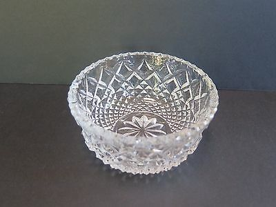 Stunning Heavy Crystal Sweet Bowl With A Diamond Pattern
