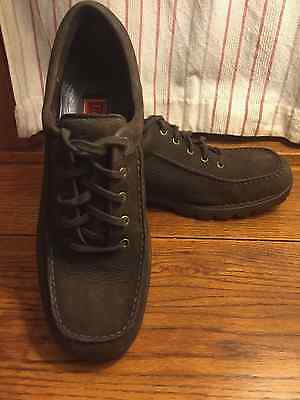 Men's Cole Haan suede/ leather Brown lace-up shoes size 11.5