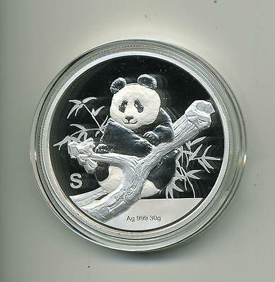 2017 S Silver China Panda Singapore Show Medal Box & COA 30 grams Mintage of 500