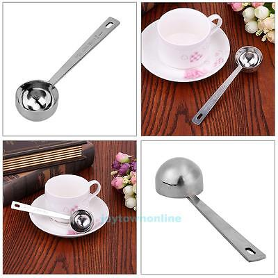 15/30ML Stainless Steel Ground Coffee Scoop Kitchen Milk Powder Measuring Spoon
