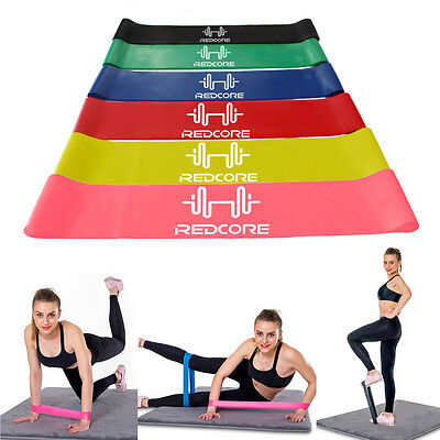 Resistance Loop Bands - Exercise Loops 6pc Resistance Band Set - Yoga Pilates