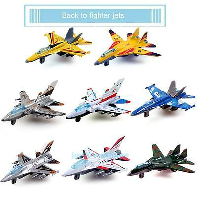 Alloy Military Airplane Fighter Model Kids Simulation Plane Pull Back Toys NEW