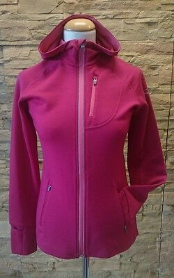 Icebreaker Quantum Long Sleeve Zip Hood Women in Raspberry versch. Größen