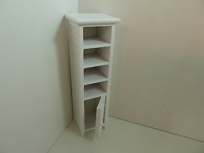 Dolls House Miniature 1:12th Scale Bathroom Furniture White Cabinet (CLA10733)