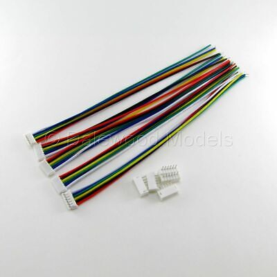 5 Sets Micro JST ZH 1.5mm 6 Pin Male Female Connector Wires Cables 15cm