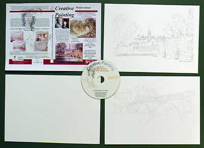 Watercolour Paper + Instructional DVD how to paint watercolour Bakewell, Clumber