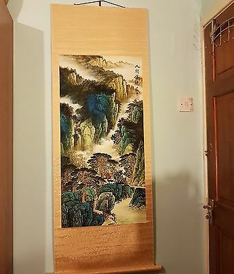 Gorgeous VL Original  Chinese  Painting Mounted On Scroll - MountainLandscape