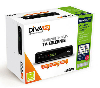 Aston Diva HD T2 FREENET TV ZAPPER / H.265 HEVC / DVB-T2 Full HD