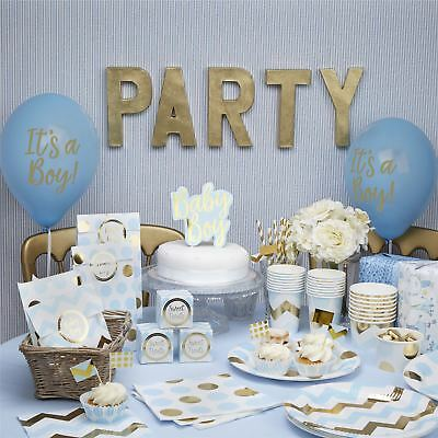 Pattern Blue Baby Shower Girls Party Decorations Christening Tableware Birthday
