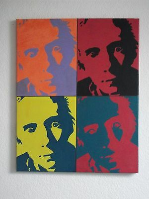 SEX PISTOLS, PUNK   ,.HAND PAINTED canvas 20 X 16  INS..READY TO HANG
