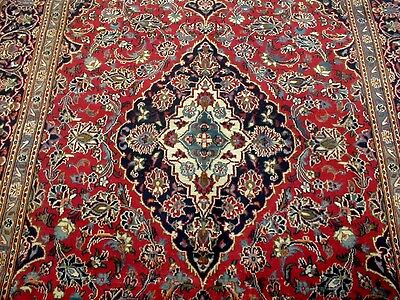 10X7 1940's GORGEOUS AUTHENTIC HAND KNOTTED 70+YRS ANTQ WOOL KASHAN PERSIAN RUG